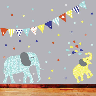 Elephant Fabric Decal - Boys - Wiggles Piggles  - 3