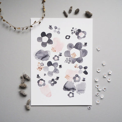 Wonder and Rah Watercolour Floral Print