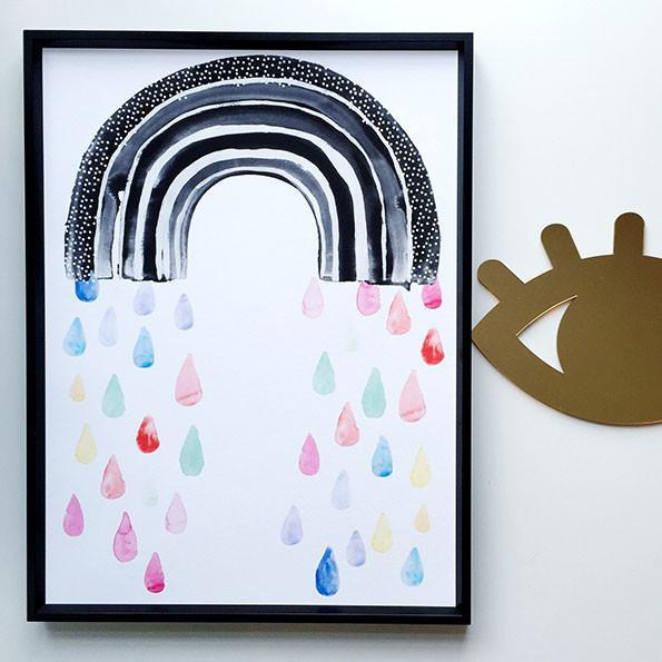Wonder and Rah Rainbow Rain Print