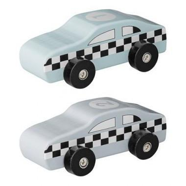 Bloomingville Mini Wooden Cars | Set of 2 (Blue)