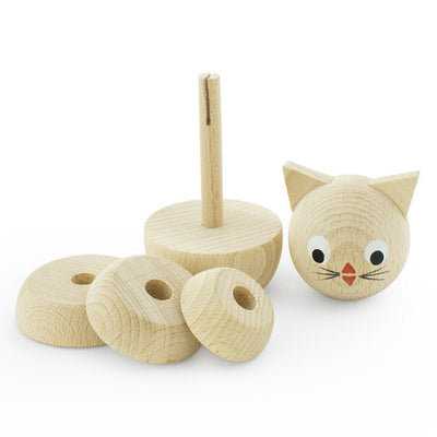 Wooden Stacking Puzzle - Kitty - Wiggles Piggles  - 2