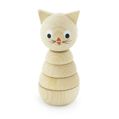 Wooden Stacking Puzzle - Kitty - Wiggles Piggles  - 1