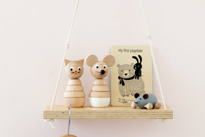 Wooden Stacking Puzzle - Mouse
