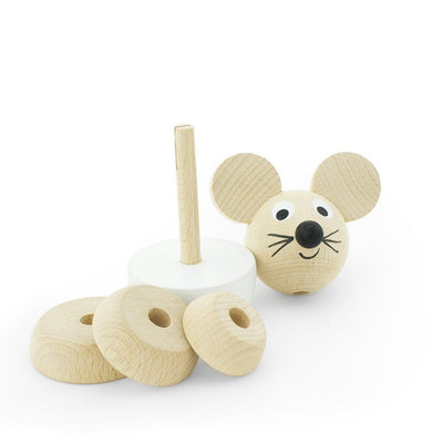 Wooden Stacking Puzzle - Mouse - Wiggles Piggles  - 2