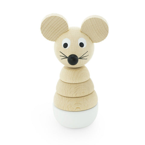 Wooden Stacking Puzzle - Mouse - Wiggles Piggles  - 1