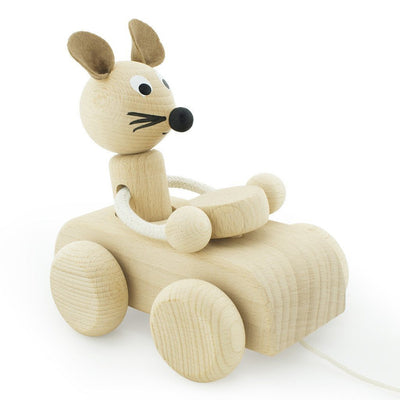 Wooden Pull Along Mouse - Wiggles Piggles  - 3