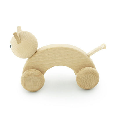 Wooden Push Along Kitty - Wiggles Piggles  - 2