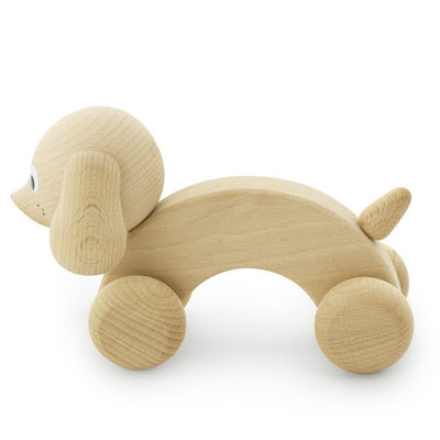 Wooden Push Along Dog - Wiggles Piggles  - 2
