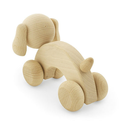 Wooden Push Along Dog - Wiggles Piggles  - 3