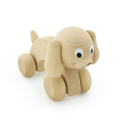Wooden Push Along Dog - Wiggles Piggles  - 4