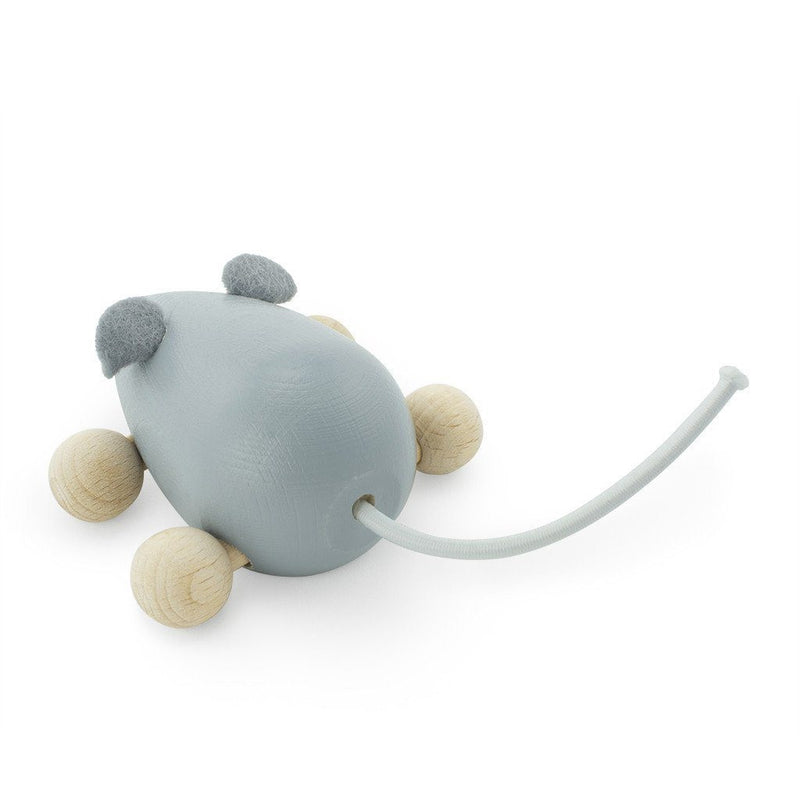 Wooden Push Along Mouse - Wiggles Piggles  - 1