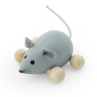 Wooden Push Along Mouse - Wiggles Piggles  - 3