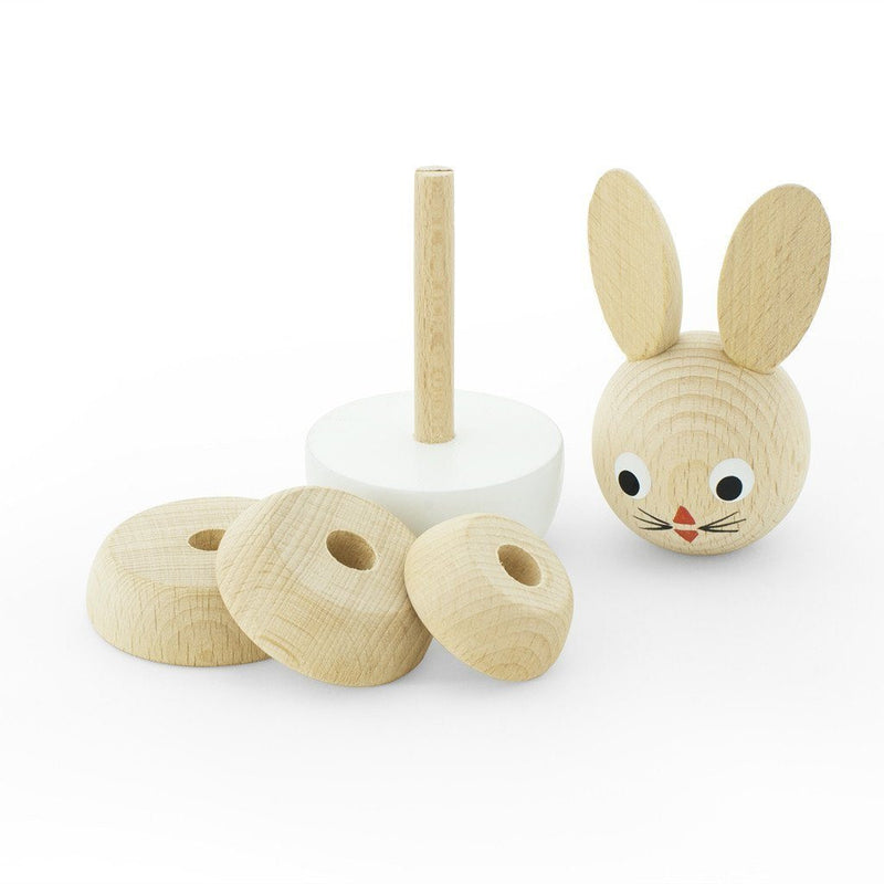 Wooden Stacking Puzzle - Rabbit - Wiggles Piggles  - 1