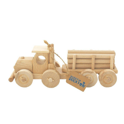 Wooden Truck With Trailer