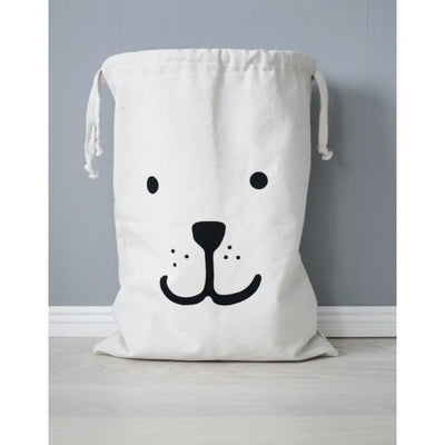 Tellkiddo Bear Fabric Storage Bag - Wiggles Piggles  - 1