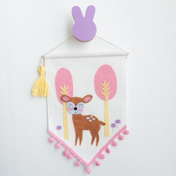 Bunny Wall Hook - Lavender - Wiggles Piggles  - 1