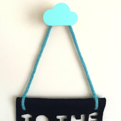 Cloud Wall Hook - Mint - Wiggles Piggles  - 1