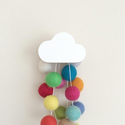 Cloud Wall Hook - White - Wiggles Piggles  - 1