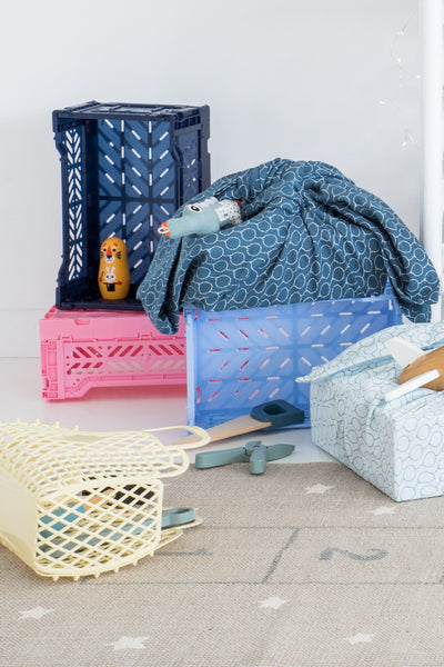 Lillemor Lifestyle Mini Folding Crate (Navy)