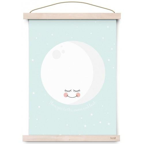 To the Moon & Back Poster Print - Mint - Wiggles Piggles