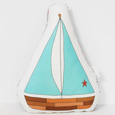 Plush Sailboat Cushion - Wiggles Piggles  - 1
