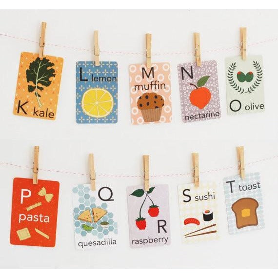 Food Alphabet Card Set - Wiggles Piggles  - 1