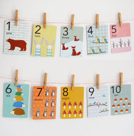 Forest Numbers Counting Card Set - Wiggles Piggles  - 1