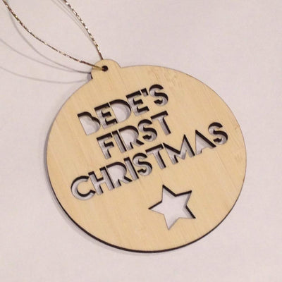 Custom Made First Xmas Bauble - Wiggles Piggles  - 2
