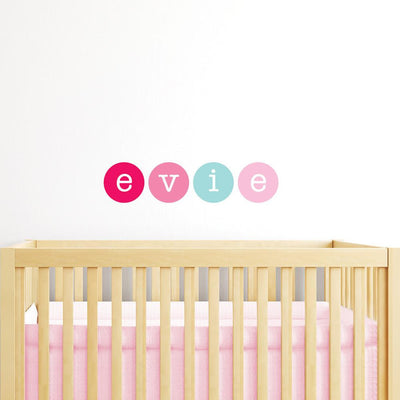 Polkadots Name Wall Stickers - Girls - Wiggles Piggles  - 1