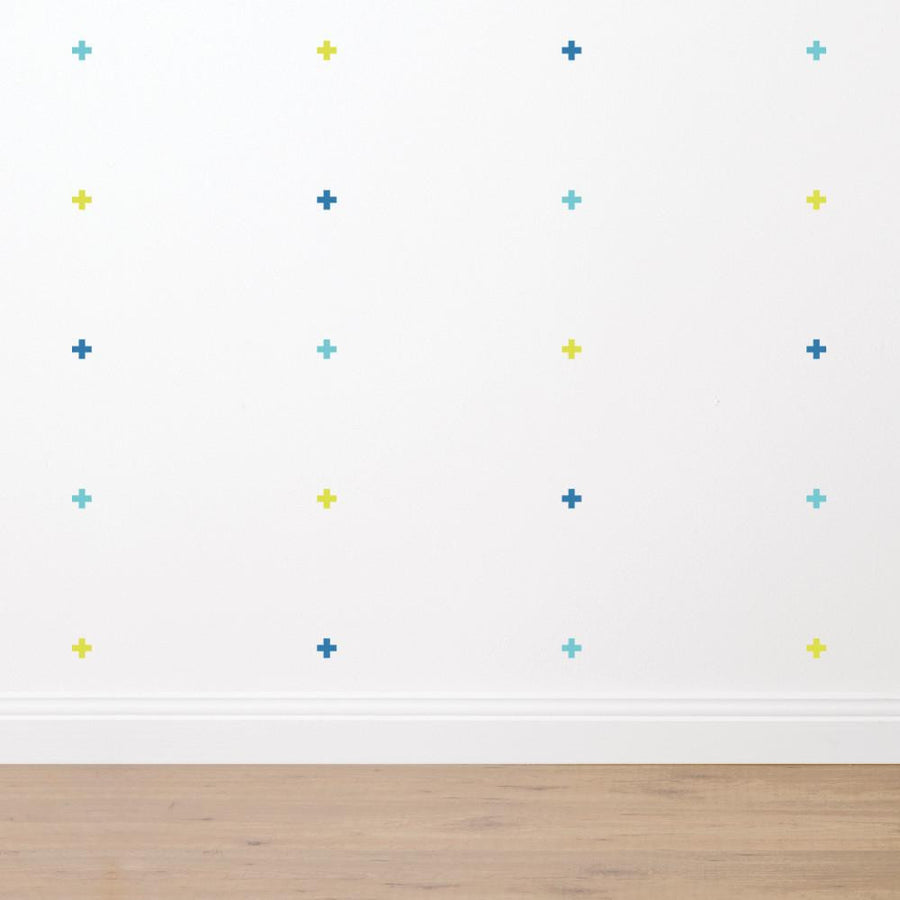 Crosses - Fabric Wall Sticker Set - Wiggles Piggles  - 1