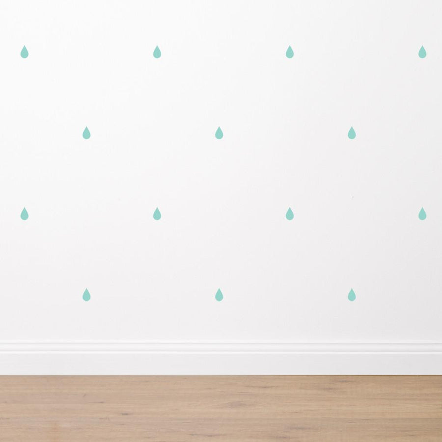 Raindrops - Fabric Wall Sticker Set - Wiggles Piggles  - 1