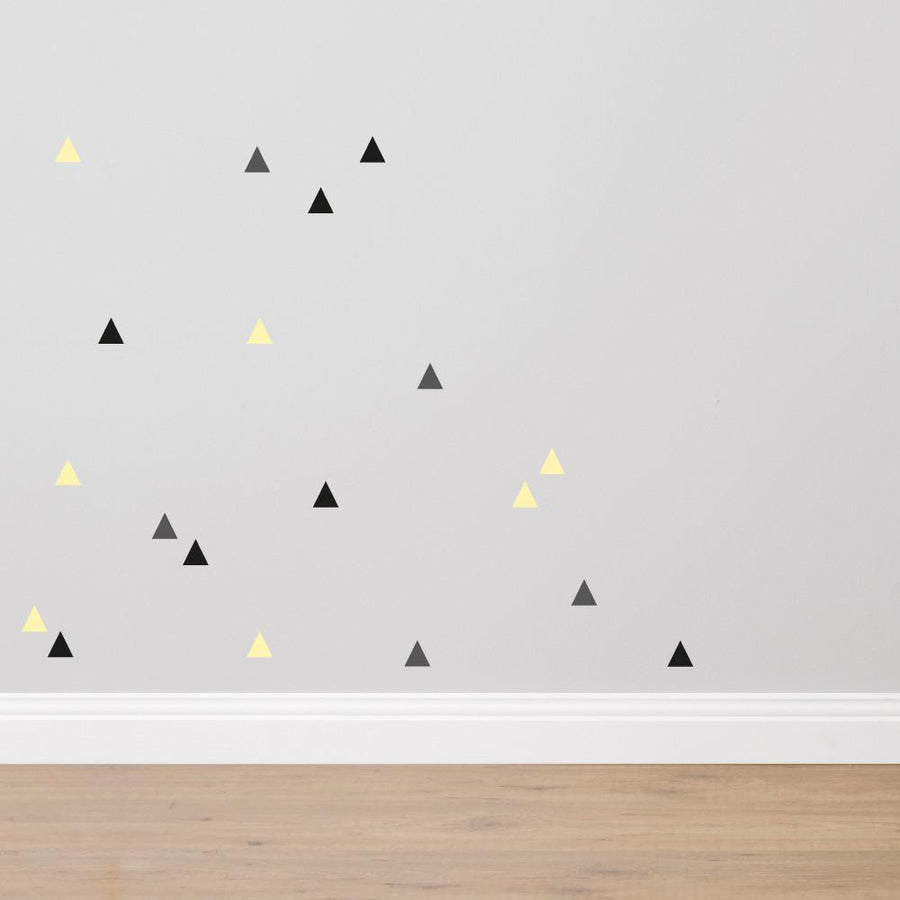 Triangles - Fabric Wall Sticker Set - Wiggles Piggles  - 1