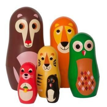 OMM Design Animal Series Nesting Dolls - Series 1 - Wiggles Piggles  - 1
