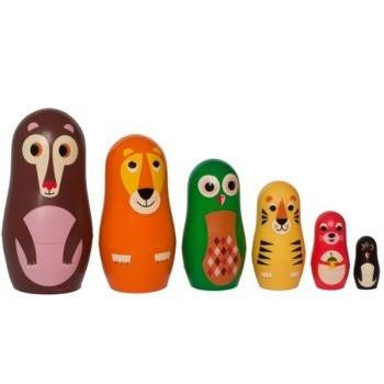 OMM Design Animal Series Nesting Dolls - Series 1 - Wiggles Piggles  - 3