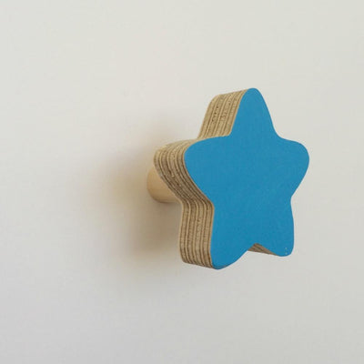 Star Wall Hook - Blue - Wiggles Piggles  - 3