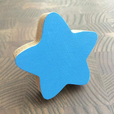 Star Wall Hook - Blue - Wiggles Piggles  - 1