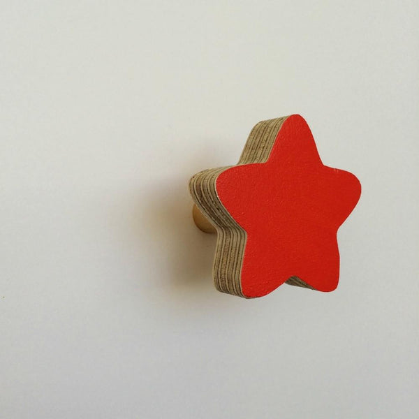 Star Wall Hook - Red - Wiggles Piggles  - 1
