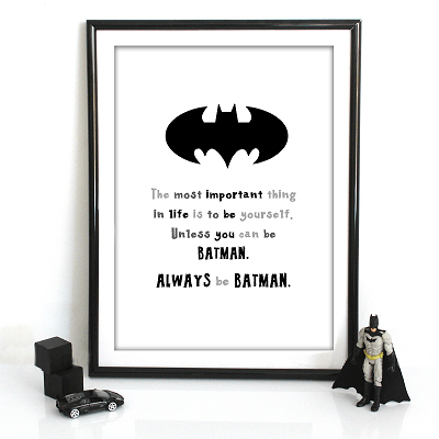 Always Be Batman Print - Wiggles Piggles