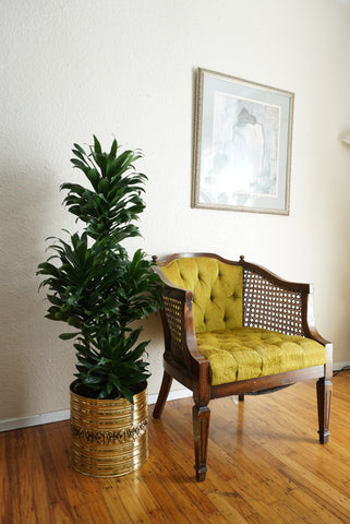 Lime Green Tufted Chair