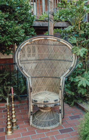 Patterned Boho Peacock Chair