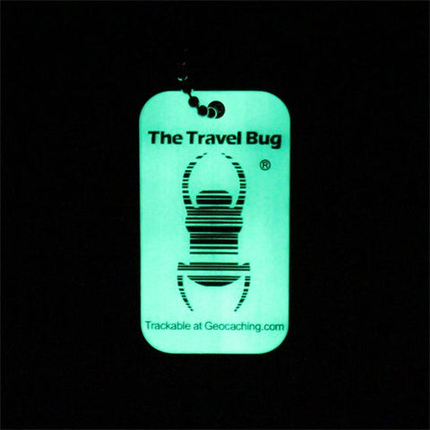"Travel bug code QR ""glow in the dark"""