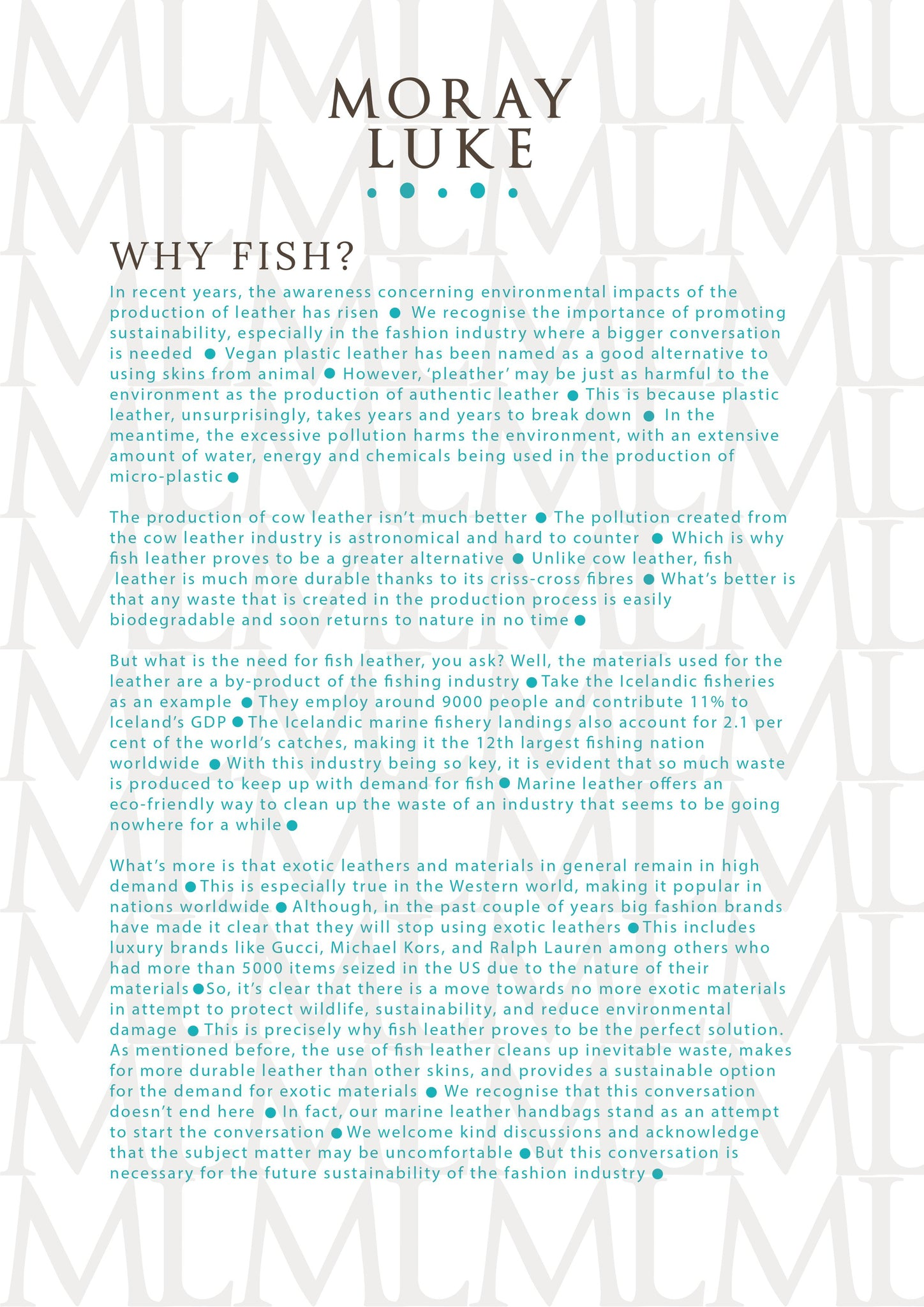 WHY FISH LEATHER