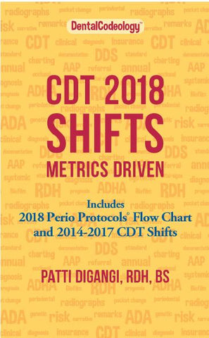 CDT 2018 Shift Metrics Driven print & eBook -Save 40% become Dental Codeologist Member (prime)