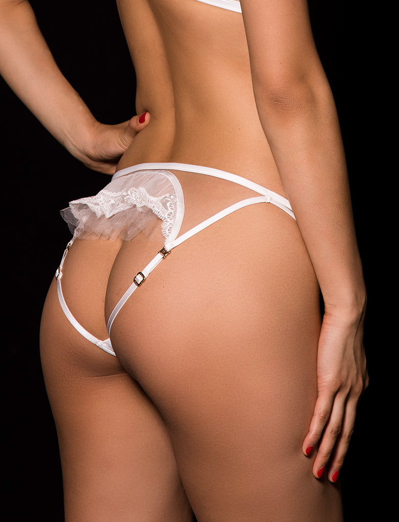 Gabrielle Open Back Brief Ivory Gold