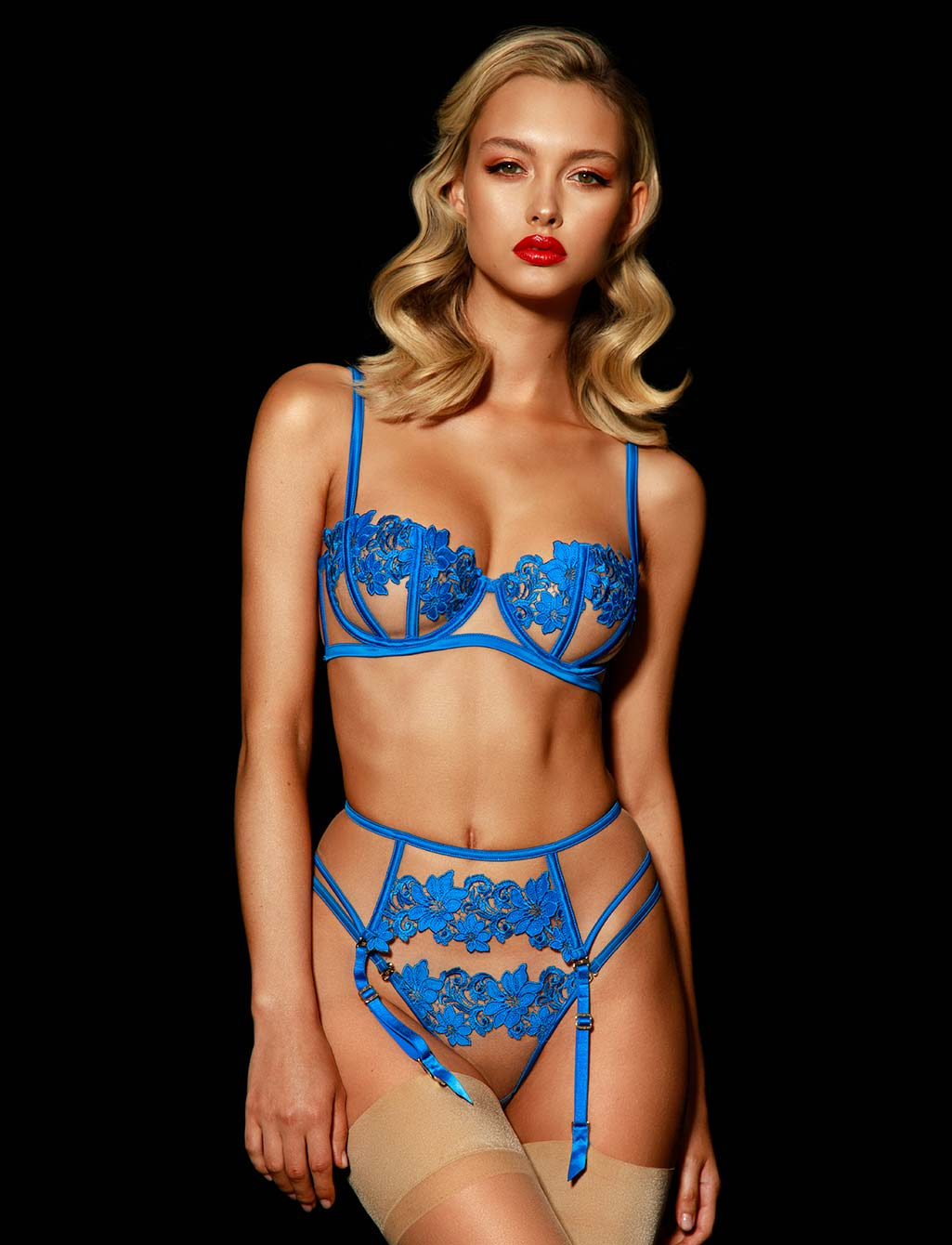 Amelie Blue 3 Piece Set