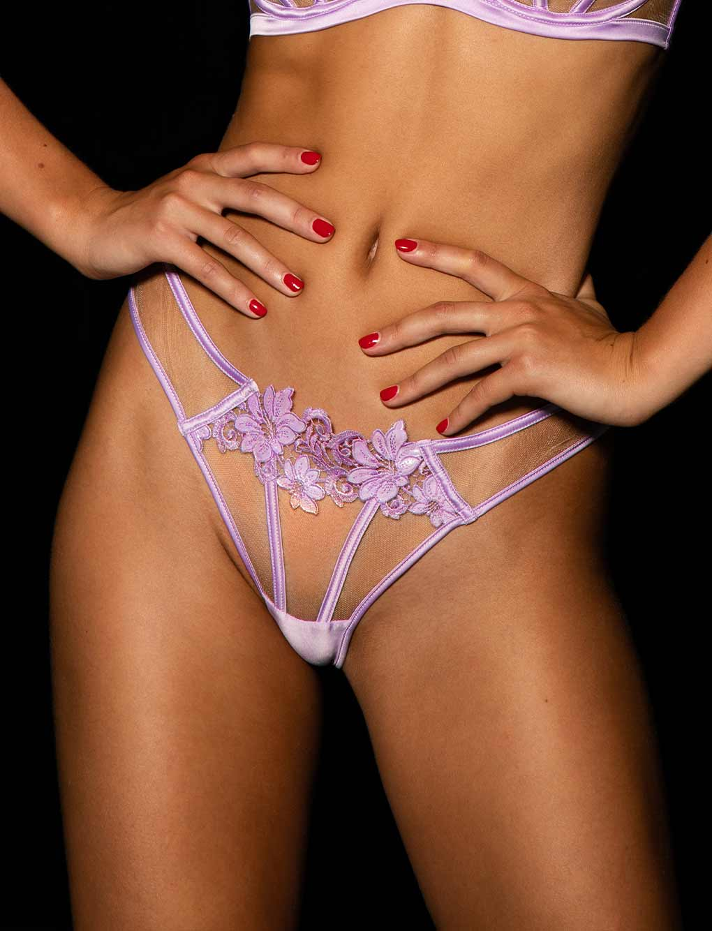Amelie Lilac Bra & Bottoms Set