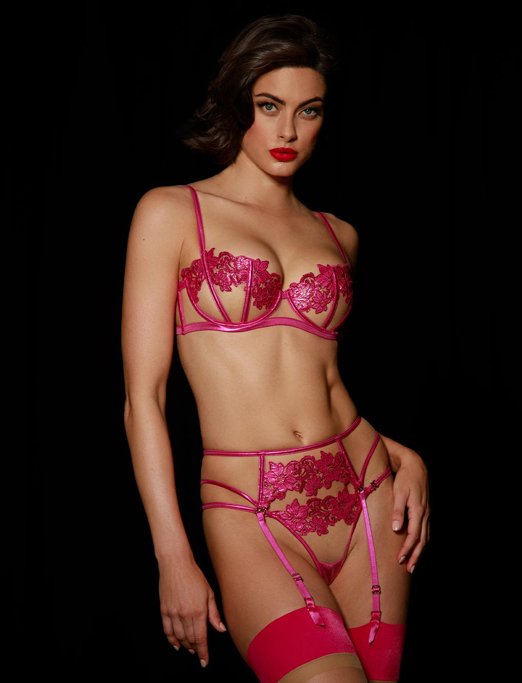 Amelie Pink Lingerie Set - Shop Lingerie | Honey Birdette