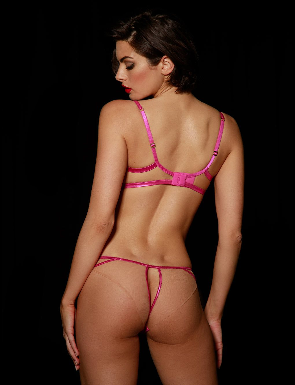 Amelie Pink Bra & Bottoms Set