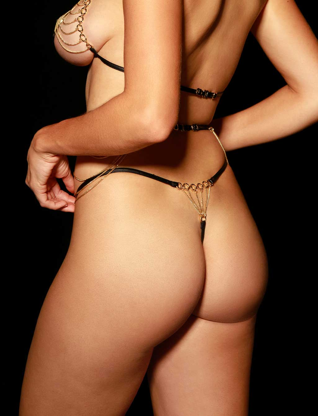 Ariana Gold Bodychain Thong G string | Shop Honey Birdette
