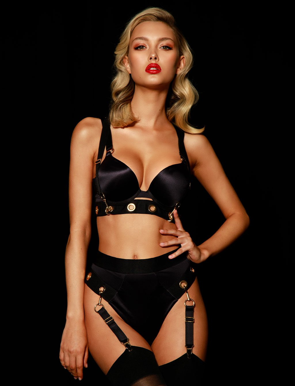 Ava Black Brief | Shop  Lingerie Honey Birdette
